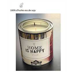 Bougie XL - Home is Happy - FIREWOOD 310gr VEGAN