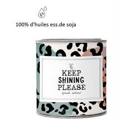 Bougie XL - Keep Shinning Please - FRESH COTTON 310gr VEGAN